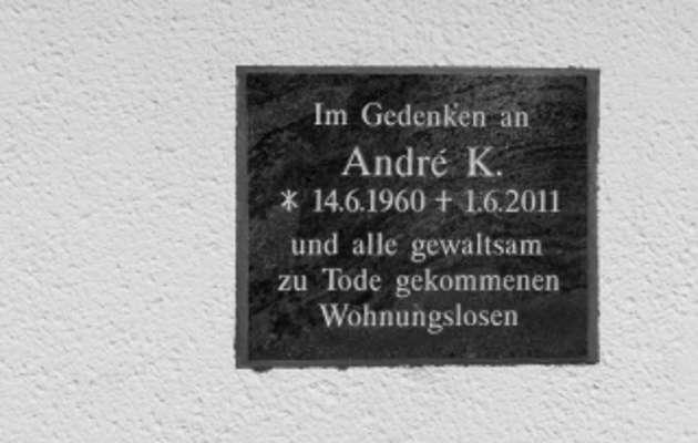 Gedenktafel Andre K. in Oschatz