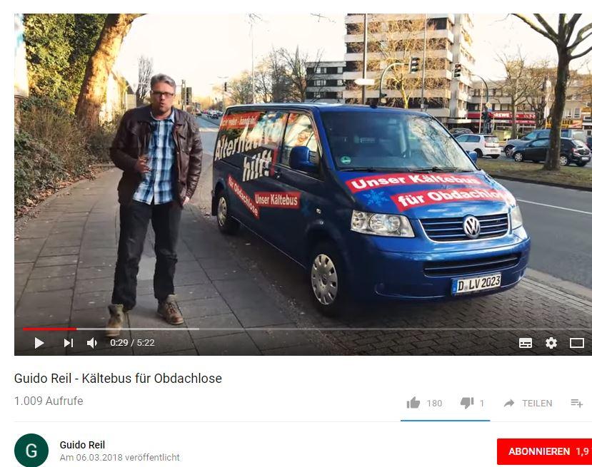 Guido Reil (AfD) und sein Kältemobil