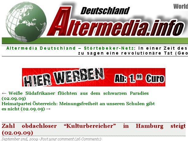 Altermedia-Hetze