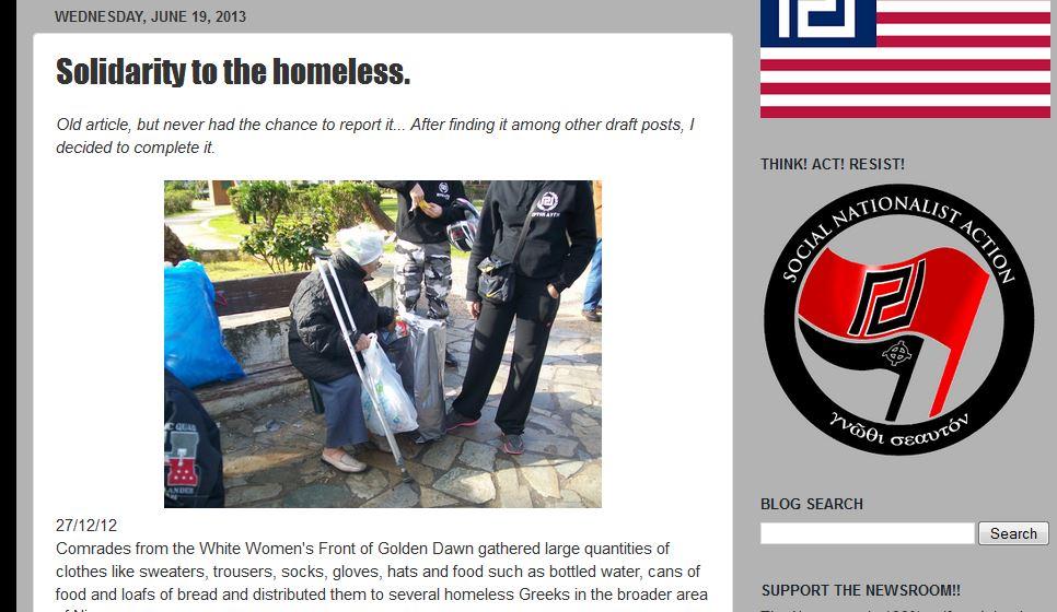 Golden Dawn für Obdachlose