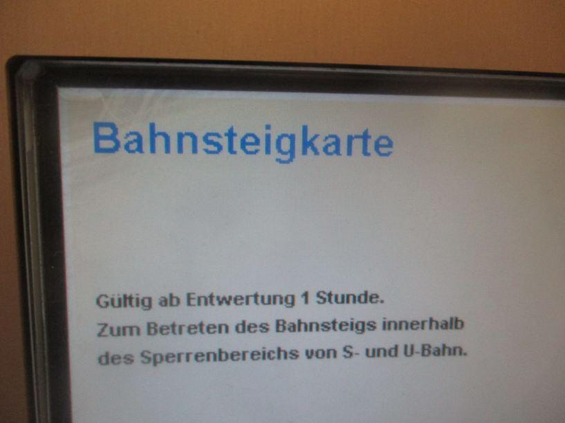Bahnsteigkarte München