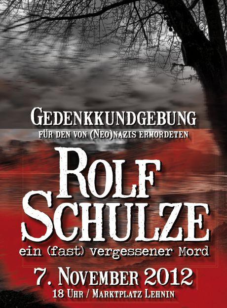 Gedenken Rolf Schulze