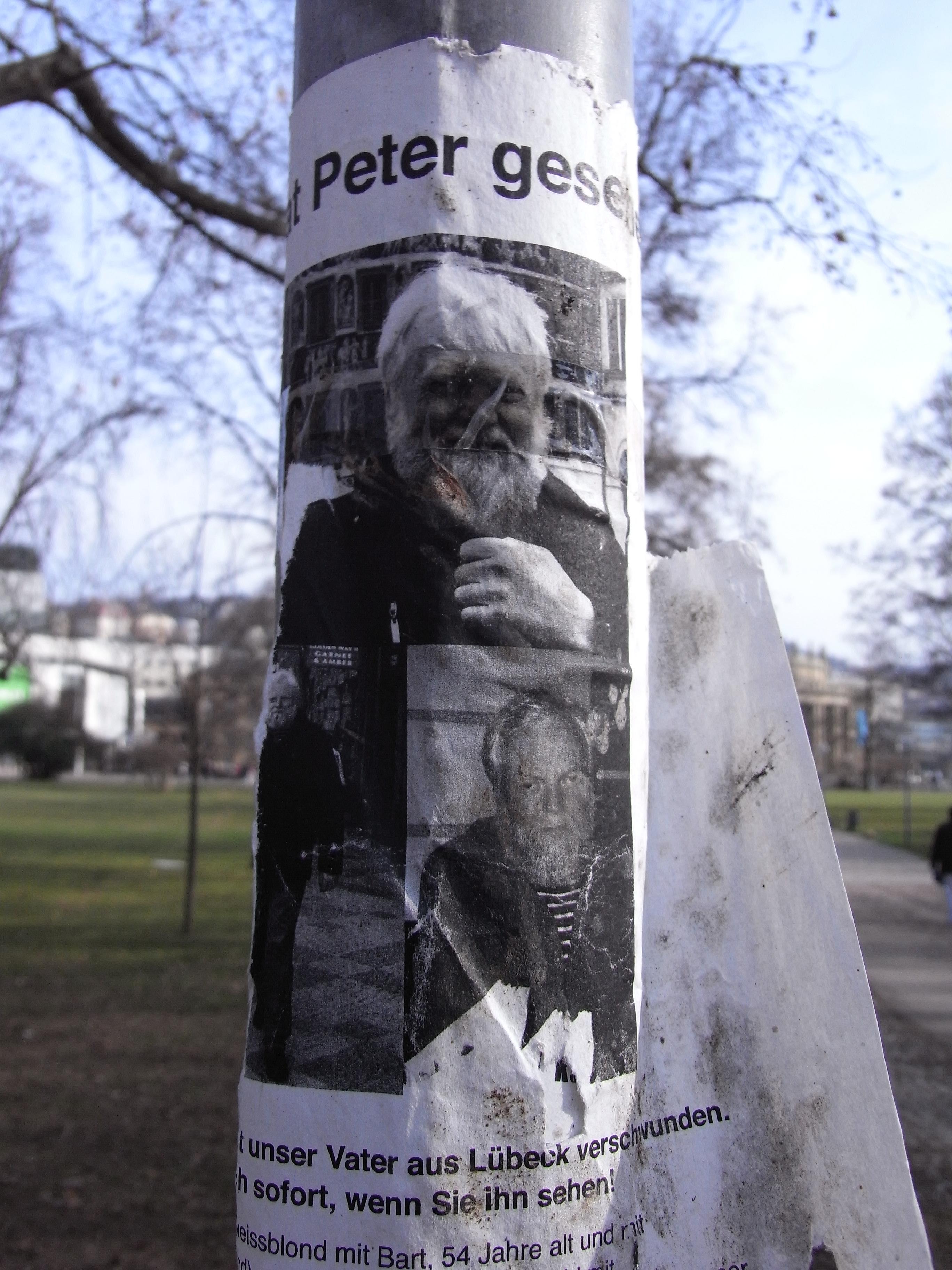Anzeige vermisster Vater in Stuttgart