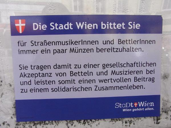 Wien für Bettler
